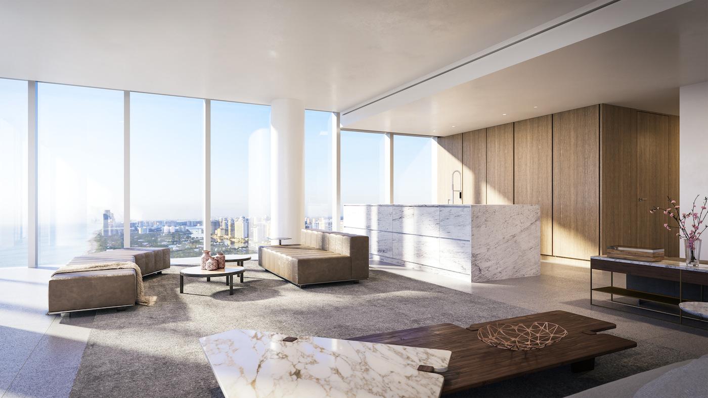 2000 Ocean suite living space
