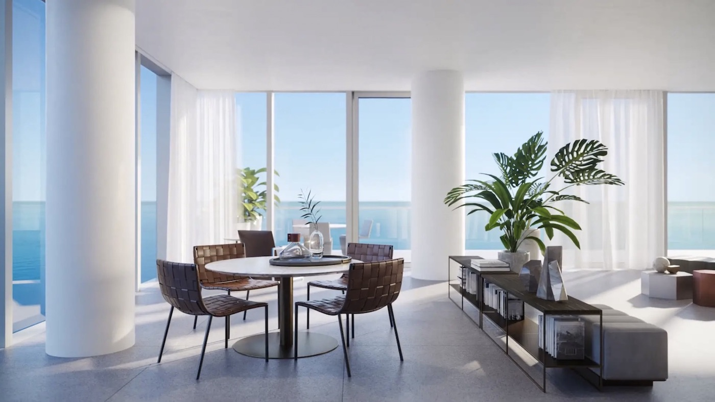 2000 Ocean suite dining area